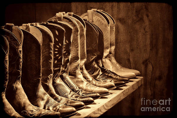 Photograph - Cowgirl Boots Collection by American West Legend By Olivier Le Queinec