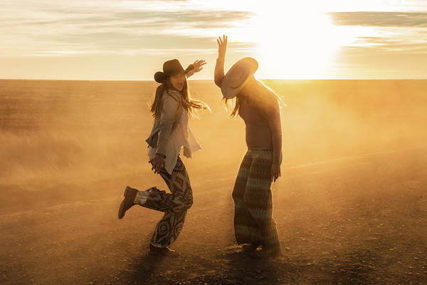 Gravel Road Photograph - Cowgirl Dance by Todd Klassy