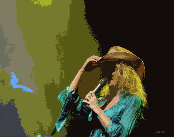 Digital Art - Cowgirl  Entertainer by Pete Rems