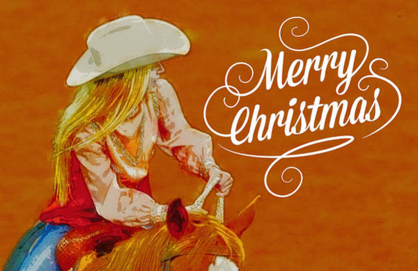 Photograph - Cowgirl Merry Christmas by Alice Gipson