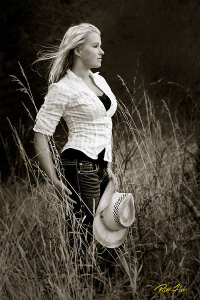 Photograph - Cowgirl by Rikk Flohr