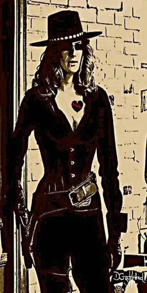 Wall Art - Painting - Cowgirl Shooter by Dave Gafford