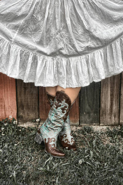 Photograph - Cowgirl Skirt With Boots by Sharon Popek