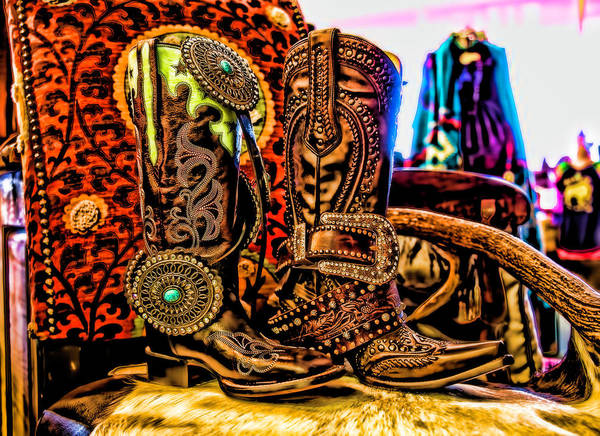Wall Art - Photograph - Cowgirls Gotta Have Boot Choices by Toni Hopper