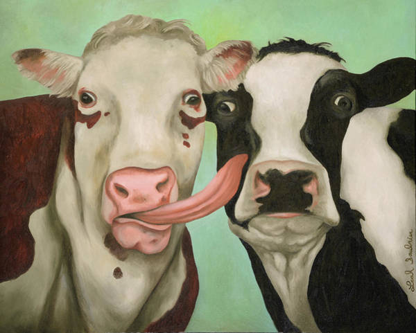 Painting - Cowlicious by Leah Saulnier The Painting Maniac