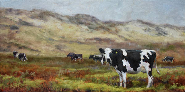 Dairy Painting - Cowlifornia  by Tracie Thompson