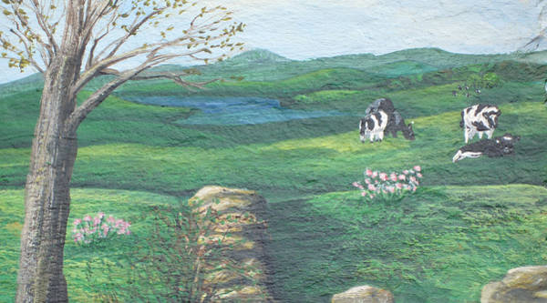 Wall Art - Painting - Cows In Field by Barbara McDevitt