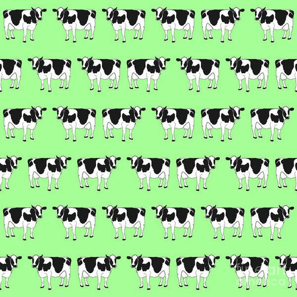 Wall Art - Digital Art - Cows Pattern by Gaspar Avila