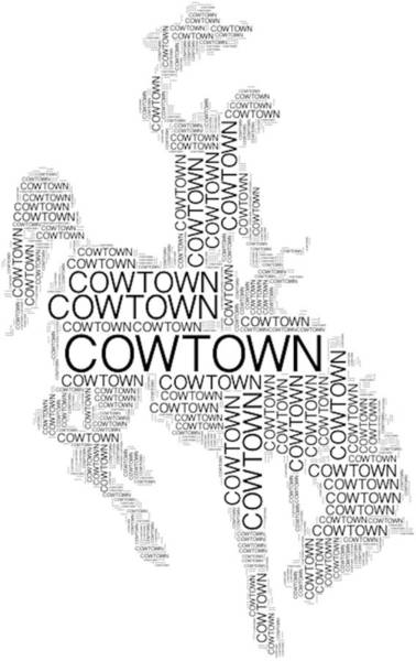 Digital Art - Cowtown Words by Alice Gipson