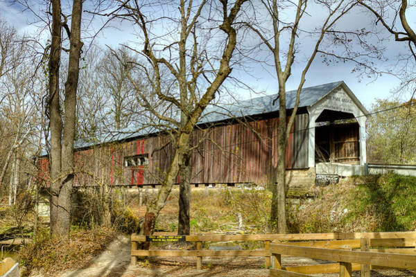 Photograph - Cox Ford Covered Bridge by Jack R Perry
