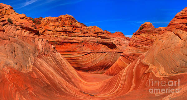 Photograph - Coyote Buttes North Wave Panorama by Adam Jewell