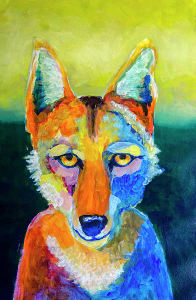 Painting - Coyote by Rick Mosher