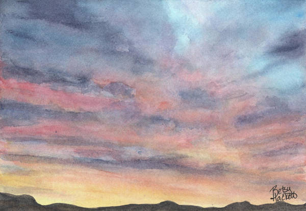 Painting - Coyote Sunset by Betsy Hackett