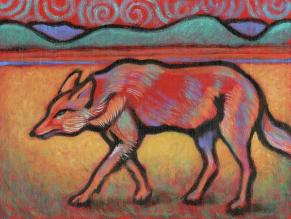 Painting - Coyote Totem by Linda Ruiz-Lozito
