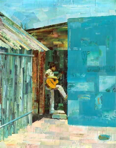 Mexican Guitar Player Painting - Cozumel Mexico by Gary Peterson