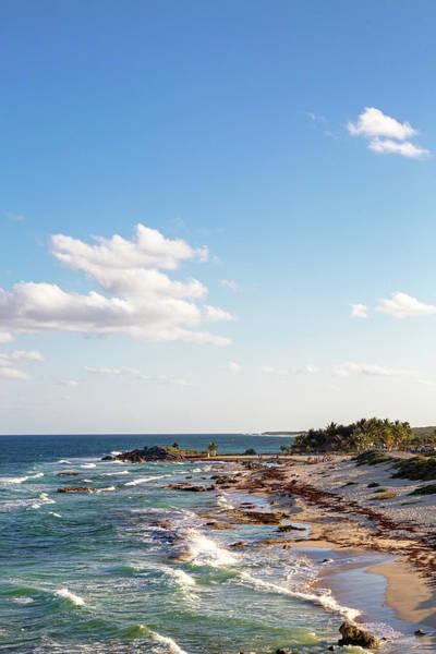 Photograph - Cozumel Mexico Sea Shoreline Vertical by Susan Schmitz