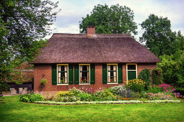 Wall Art - Photograph - Cozy Cottage With Garden In Giethoorn. The Netherlands by Jenny Rainbow