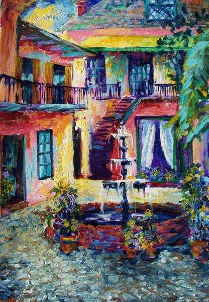 Wall Art - Painting - Cozy Courtyard by Saundra Bolen Samuel