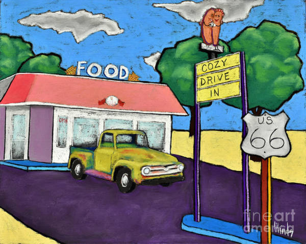 Old Chevy Truck Painting - Cozy Drive In by David Hinds