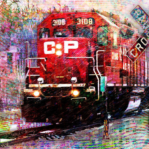 Digital Art - Cp Weathering The Storm by Barbara Berney