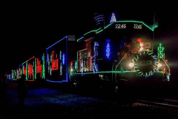 Photograph - Cp Xmas Freight Train by Sven Brogren