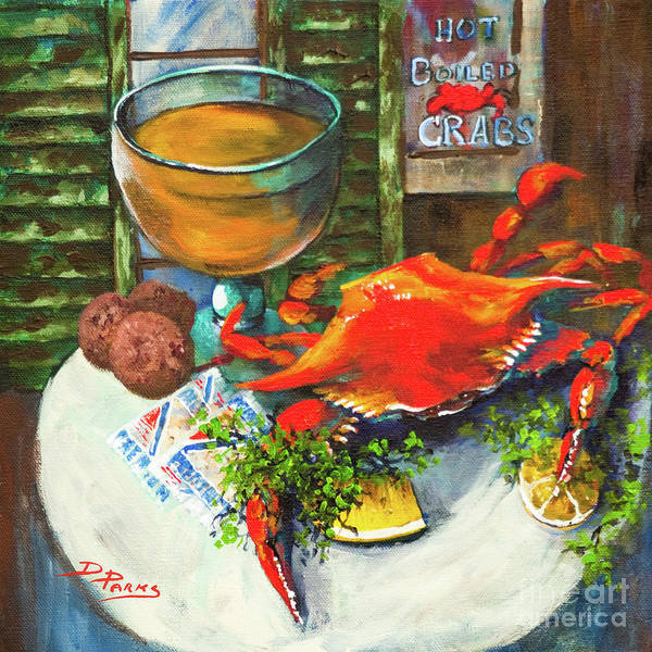 Painting - Crab And Crackers by Dianne Parks