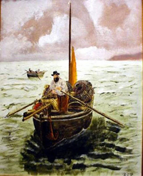 Painting - Crab Fisherman by Richard Le Page