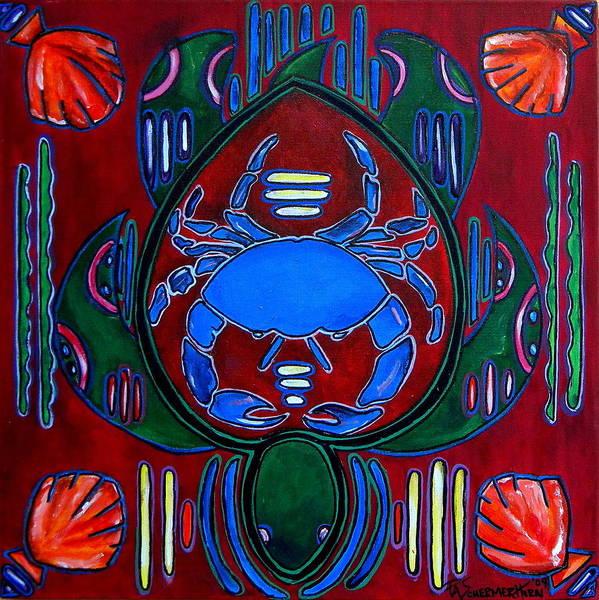 Painting - Crab Turtle Mola by Patti Schermerhorn