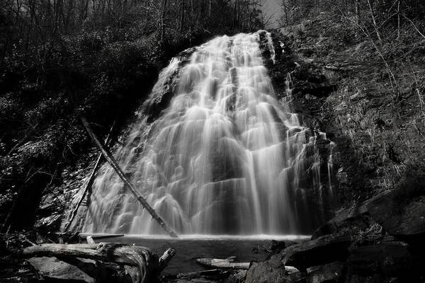 Photograph - Crabtree Falls In Black And White by Carol Montoya