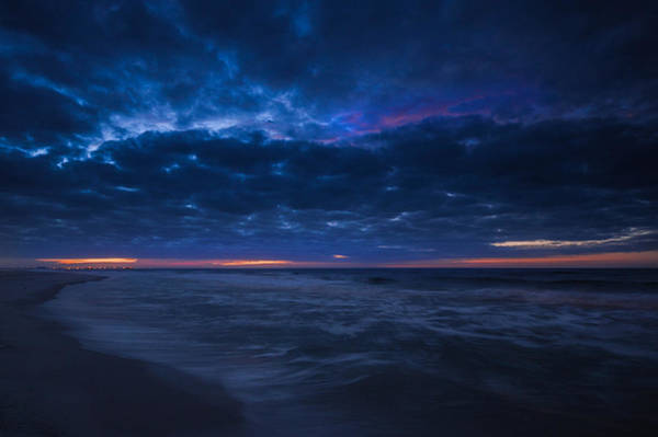 Photograph - Crack Of A Blue Dawn At The Beach by Michael Thomas