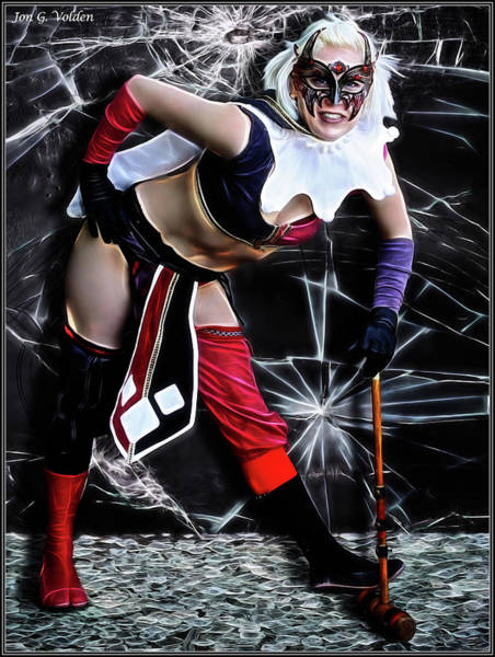 Photograph - Cracked Harley by Jon Volden