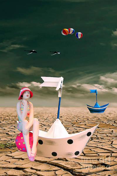 Digital Art - Cracked II - The Bathing Beauty by Chris Armytage