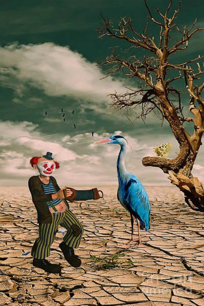 Digital Art - Cracked IIi - The Clown by Chris Armytage