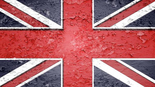 Blitz Digital Art - Cracked Union Jack Design by Blitz Photos