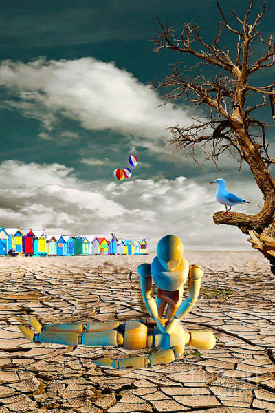 Digital Art - Cracked Vi - The Dummies Revival by Chris Armytage