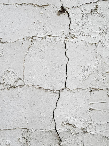 Etched Photograph - Cracked Wall by Tom Gowanlock