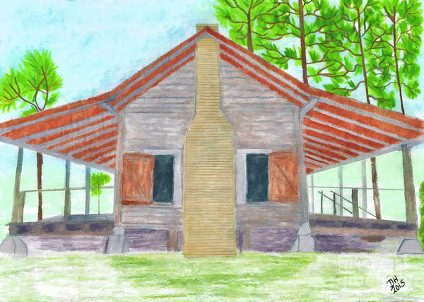 Drawing - Cracker House - Florida by D Hackett
