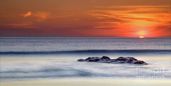 Photograph - Crackington Haven Sunset, Cornwall, Uk by Maggie McCall