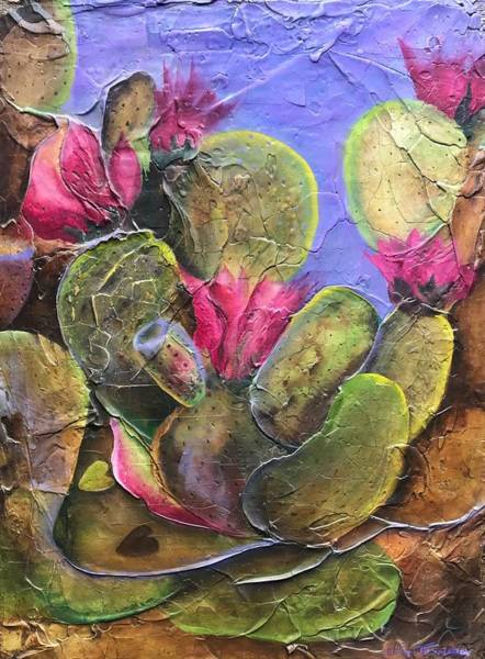 Painting - Crackled Cactus by William T Templeton