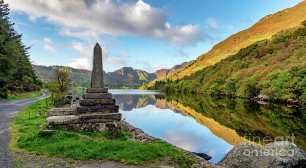 Wall Art - Photograph - Crafnant Lake Obelisk by Adrian Evans