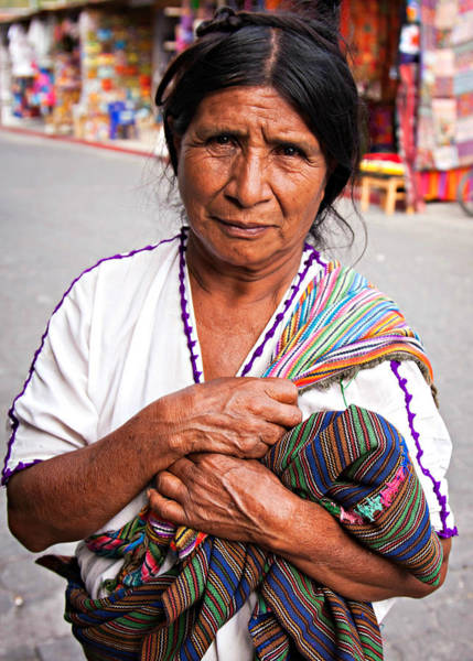 Photograph - Crafts Vendor, Guatemala by Tatiana Travelways