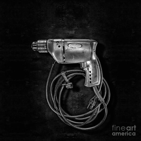 Wall Art - Photograph - Craftsman Drill Motor Lbw by YoPedro