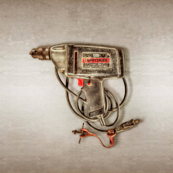 Drill Photograph - Craftsman Electric Drill Motor by YoPedro
