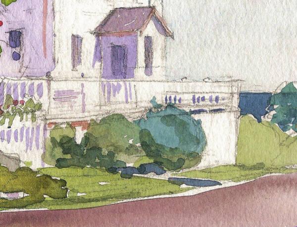 Painting - Craignair Inn Detail Section Clark Island Maine by Catinka Knoth