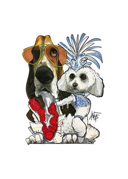 Pet Portrait Drawing - Cramer 3015 by John LaFree