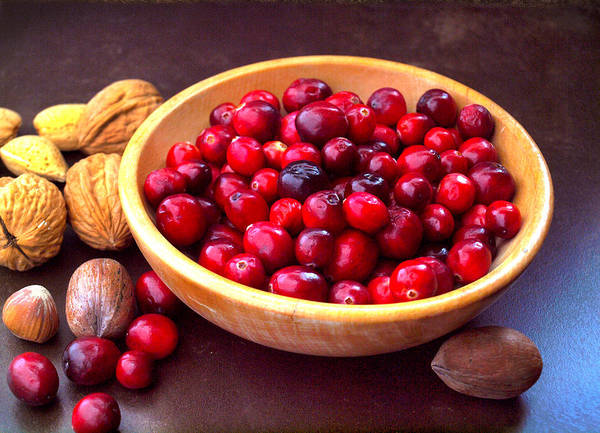 Photograph - Cranberries And Nuts by Gary De Capua
