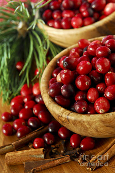 Photograph - Cranberries In Bowls by Elena Elisseeva
