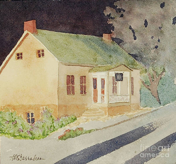 Wall Art - Painting - Cranberry Cottage Nocturne by Annette McGarrahan