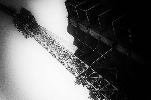 Photograph - Crane And New Building Black And White Abstract by John Williams