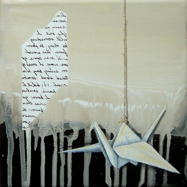 Origami Painting - Crane by K Llamas